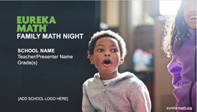 Image showing the Title Slide of the Family Math Night presentation