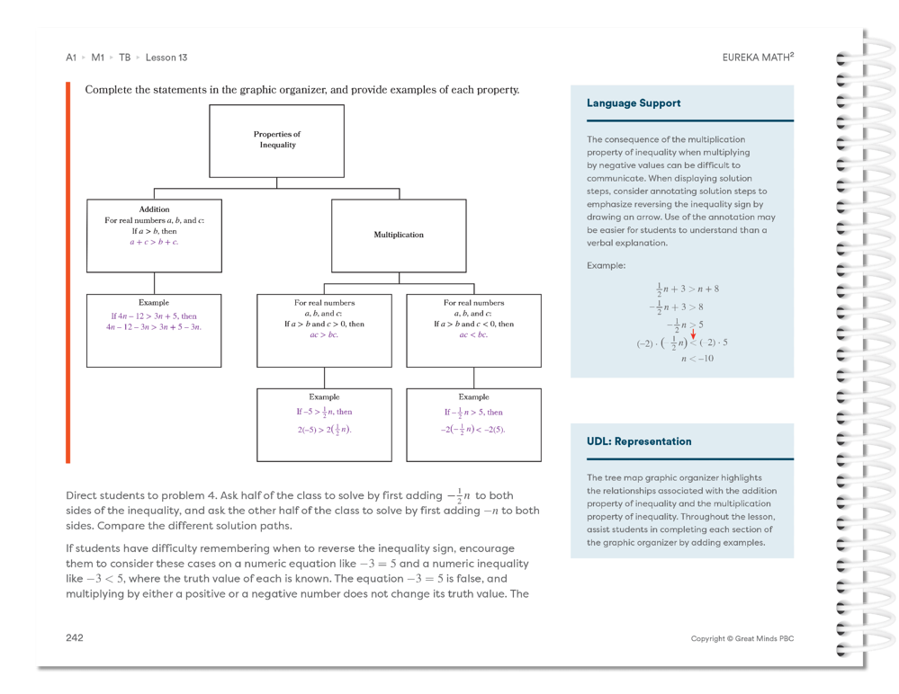 Eureka Math Squared Language Support