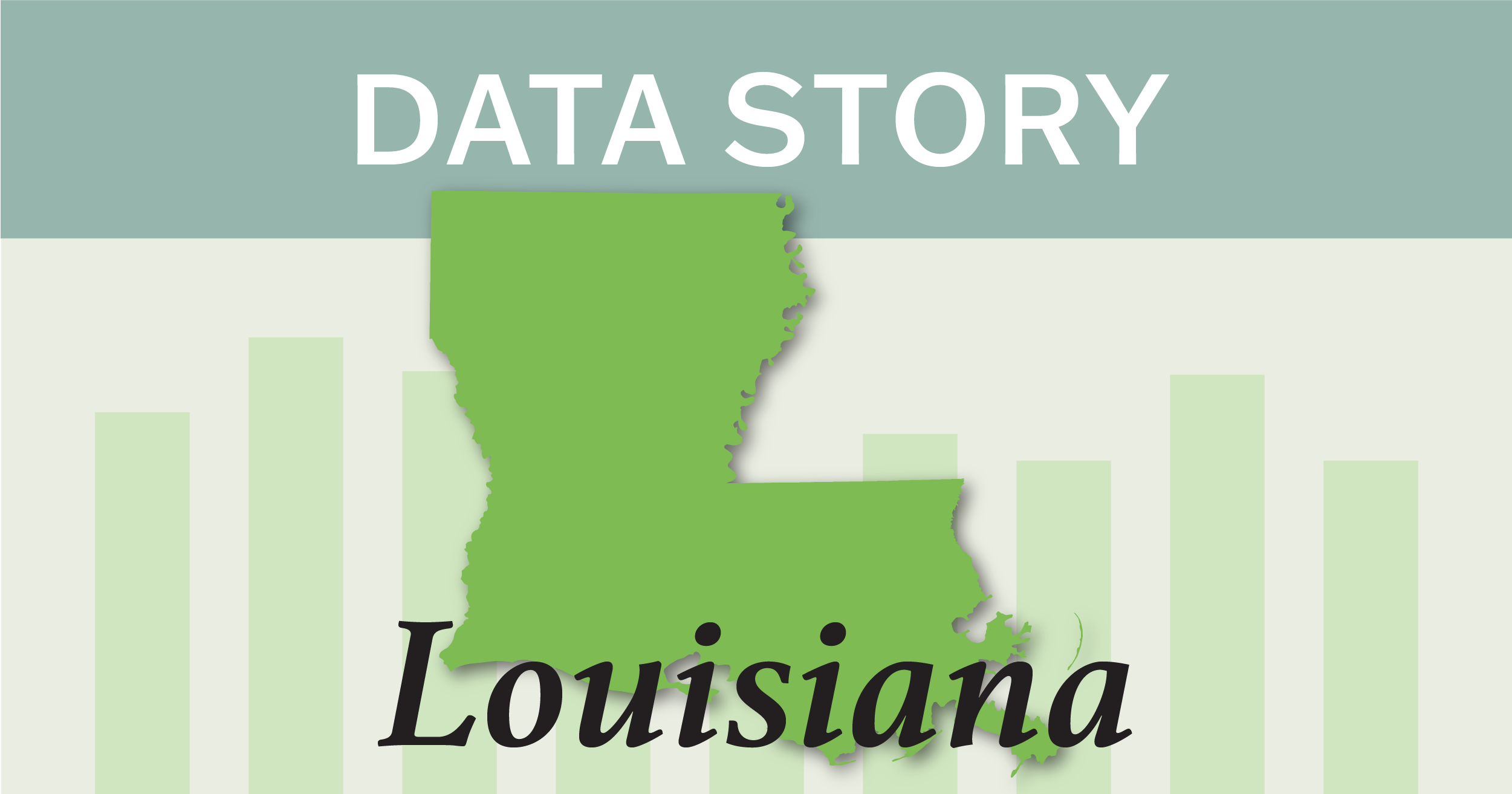 Outline of the state of Louisiana.