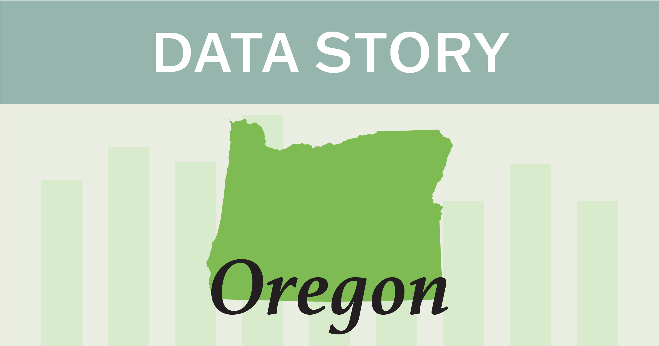 Outline of the state of Oregon.