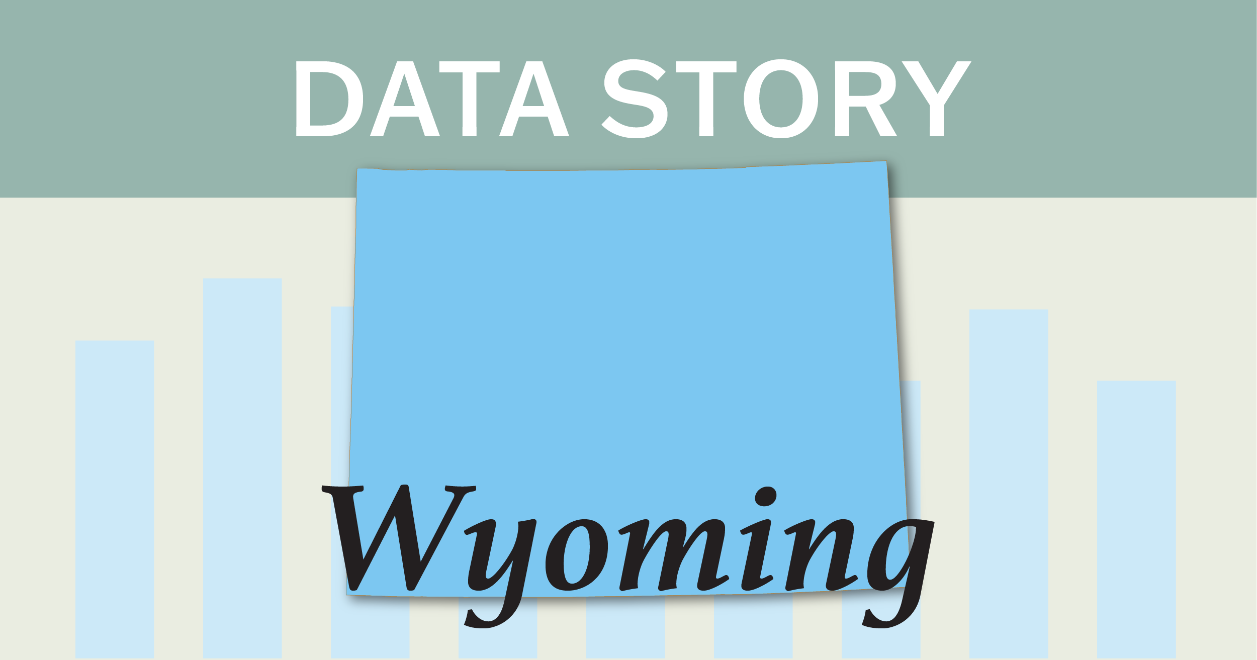 Outline of the state of Wyoming.